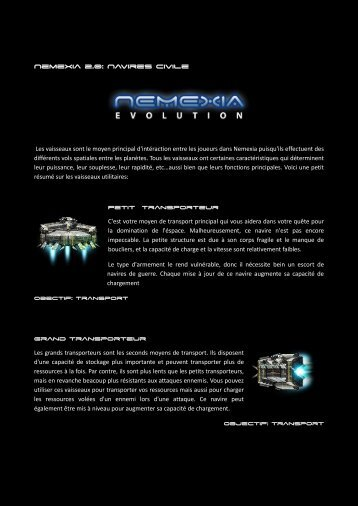 Nemexia 2.0: Navires civile