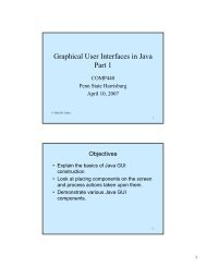 Graphical User Interfaces in Java Part 1