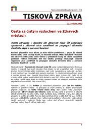 Tisková zpráva - Národní síť Zdravých měst ČR