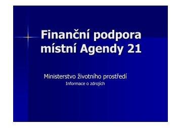 Finanční podpora místní Agendy 21
