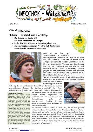 Infothek Waldkinder - Interview mit Lydia Uhl vom Jakobshof - Hühner, Herzblut und Hofalltag