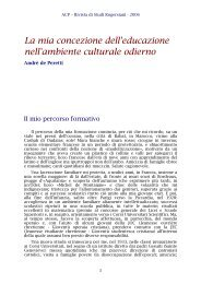 La mia concezione dell'educazione nell'ambiente ... - Acp-italia.it