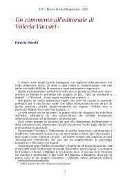 Un commento all'editoriale di V. Vaccari del numero 2001 - ACP