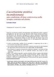 L'accettazione positiva incondizionata: una condizione di ... - ACP
