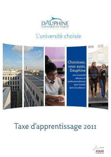 Taxe d'apprentissage 2011 - Université Paris-Dauphine