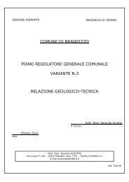 relazione geologica - Comune di Brandizzo