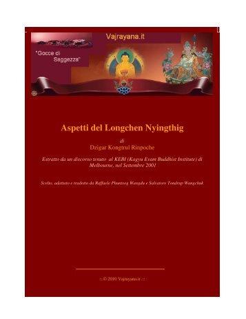 Aspetti del Longchen Nyingthig - Vajrayana.it