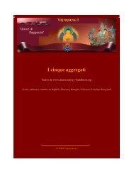 I cinque aggregati - Vajrayana.it