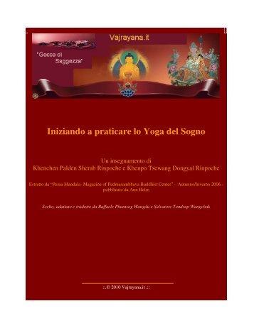 Iniziando a praticare lo Yoga del Sogno