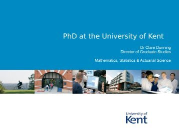 PhD at University of Kent - London Taught Course Centre