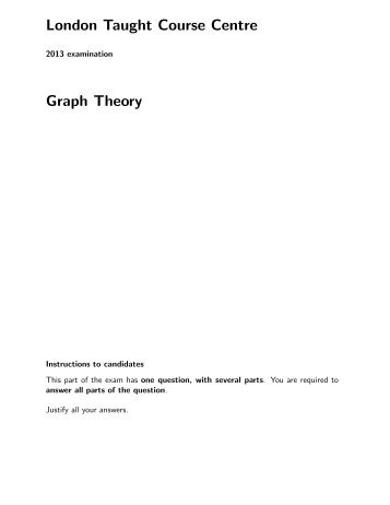 London Taught Course Centre Graph Theory