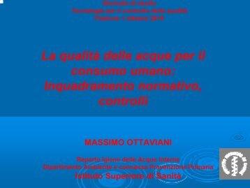 La qualità delle acque per il consumo umano - Dipartimento di ...