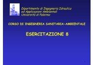 ESERCITAZIONE 8 - Dipartimento di Ingegneria Idraulica ed ...