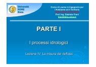 Lezione IV.pdf - Dipartimento di Ingegneria Idraulica ed Applicazioni ...