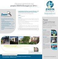 [ Devenez partenaire des projets ENSTA Bretagne en 2012 ]