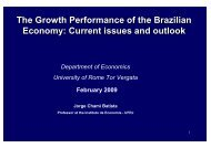 The Growth Performance of the Brazilian ... - Fondazione Masi