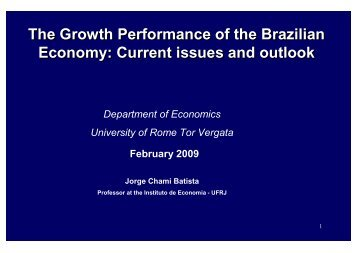 The Growth Performance of the Brazilian ... - Fondazione Masi