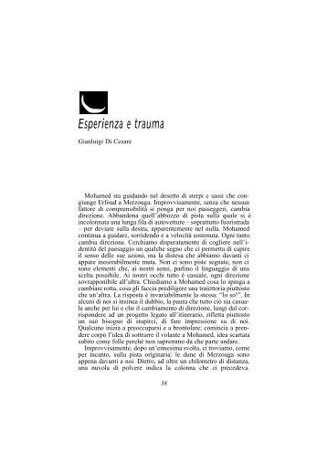 Esperienza e trauma - Aperture-rivista.it