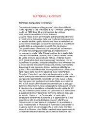 Il romanzo di Tommaso Campanella - Foglio Spinoziano