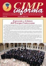 CIMP informa - Provincia Romana dei Frati Minori Conventuali