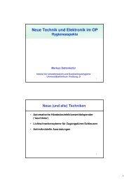 Neue Technik und Elektronik im OP - auf der Webseite von Infection ...