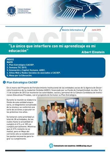 Boletín Mayo CACIEP