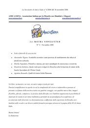 La Newsletter di Amica Sofia, n° 4/2008 del 10 novembre 2008 1 ...