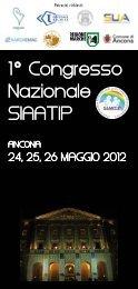 1 Congresso Nazionale SIAATIP - Società Italiana di Neonatologia