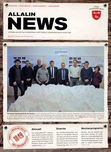 Allalin News Nr. 4 - SAAS-FEE | SAAS-GRUND | SAAS-ALMAGELL | SAAS-BALEN