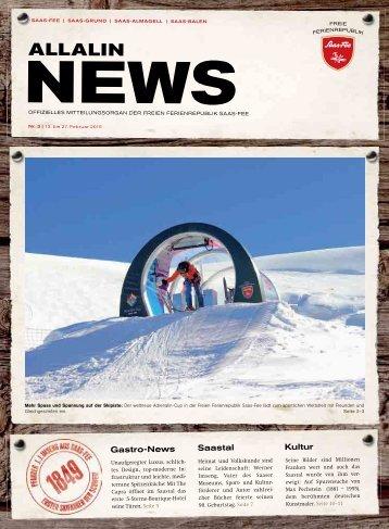 Allalin News Nr. 3 - SAAS-FEE | SAAS-GRUND | SAAS-ALMAGELL | SAAS-BALEN