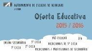Oferta Educativa do AEA para 2015/2016