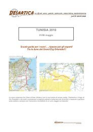 Programma di viaggio Tunisia febbraio 2010 - Desartica