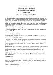 ANNO SCOLASTICO : 2010-2011 PROGRAMMA DI LINGUA ...