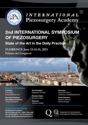 2nd INTERNATIONAL SYMPOSIUM OF PIEZOSURGERY