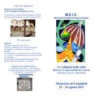 Il programma della Settimana (depliant) - Meic