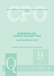 Screening del cancro Colorettale - Valutazione dei costi - GISCoR