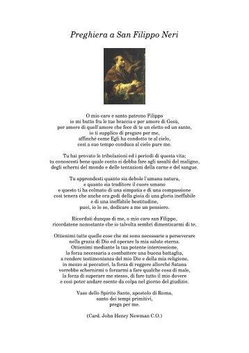 Preghiera a San Filippo Neri - Confederazione dell'Oratorio di San ...