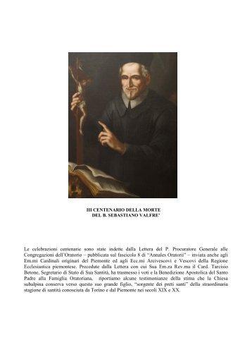 sintesi - Confederazione dell'Oratorio di San Filippo Neri