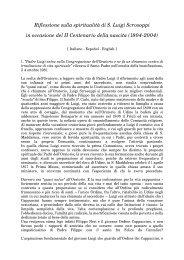 Riflessione sulla spiritualità di S. Luigi Scrosoppi in occasione del II ...