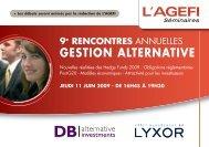 GESTION ALTERNATIVE - D|Bench Alternative Investments