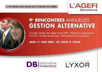 GESTION ALTERNATIVE - D Bench Alternative Investments