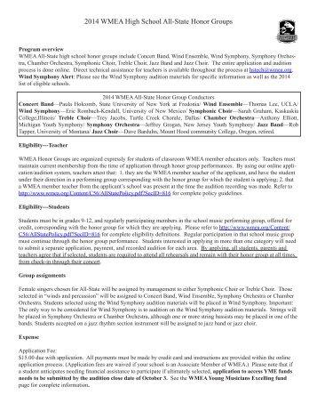 Voice Packet - Washington Music Educators Association