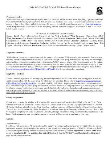 Jazz Vocal Packet - Washington Music Educators Association