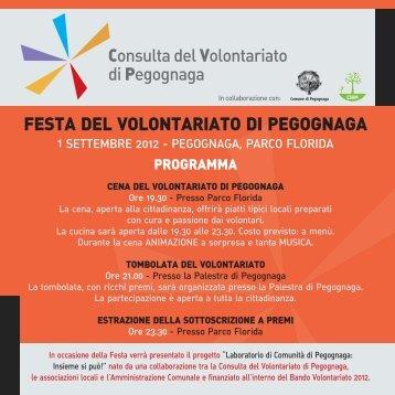 festa del volontariato di pegognaga - CSVM Centro Servizi ...