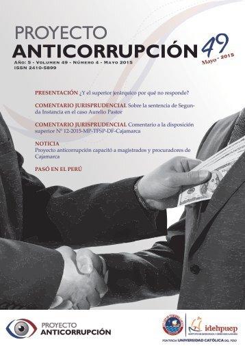 Boletín: Proyecto Anticorrupción Nº 49 - Mayo 2015