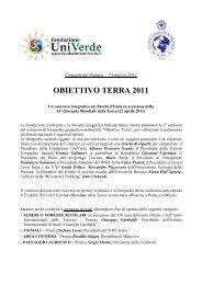 Comunicato stampa - Fondazione Univerde