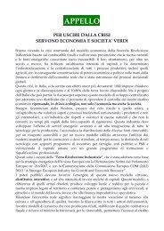 APPELLO - Fondazione Univerde