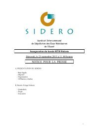 Lien vers document pdf - SIDERO
