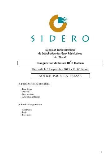 Lien vers document pdf - SIDERO
