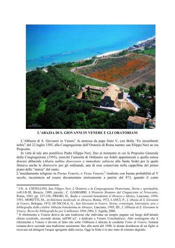 contributo - Confederazione dell'Oratorio di San Filippo Neri
